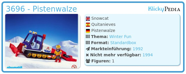 Playmobil 3696 - Pistenwalze