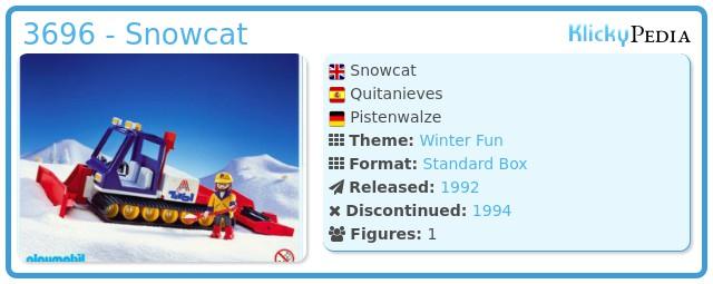 Playmobil 3696 - Snowcat