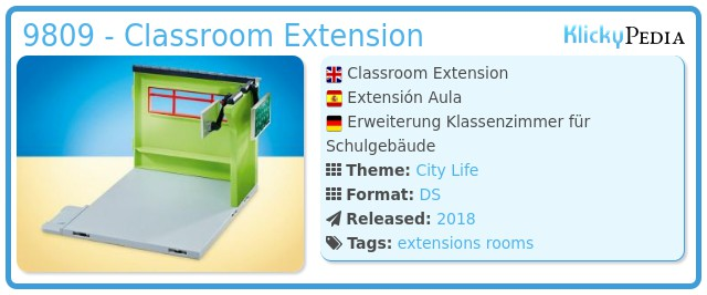 Playmobil 9809 - Classroom Extension