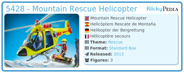 Playmobil 5428 - Mountain Rescue Helicopter