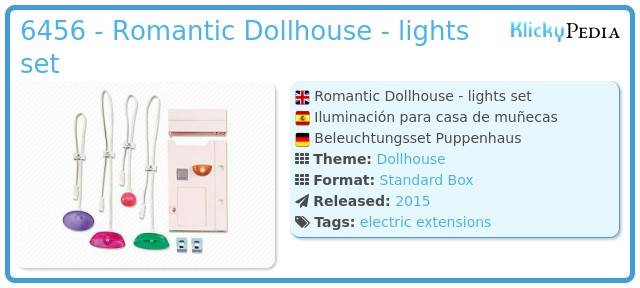 Playmobil 6456 - Romantic Dollhouse - lights set