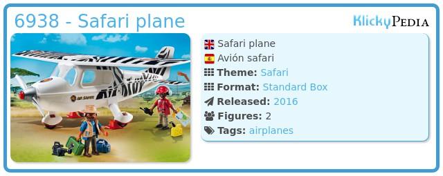 Playmobil 6938 - Safari plane
