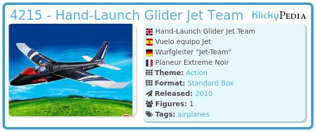 Playmobil 4215 - Hand-Launch Glider Jet Team