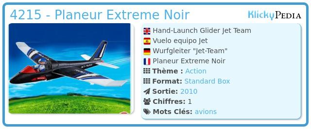 Playmobil 4215 - Planeur Extreme Noir