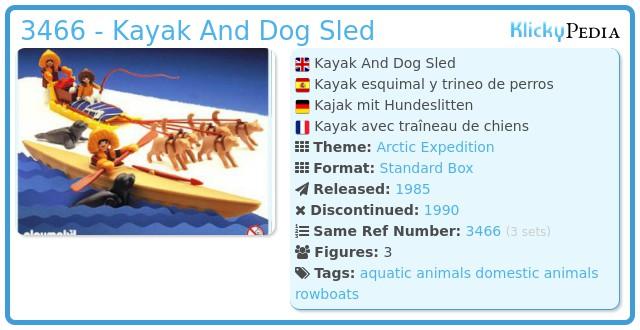 Playmobil 3466 - Kayak And Dog Sled