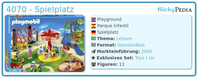 Playmobil 4070 - Spielplatz