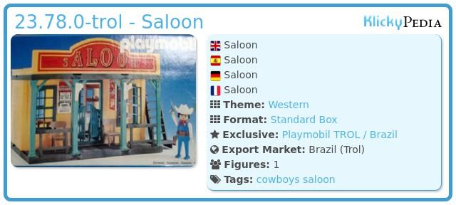 Playmobil 23.78.0-trol - .Saloon