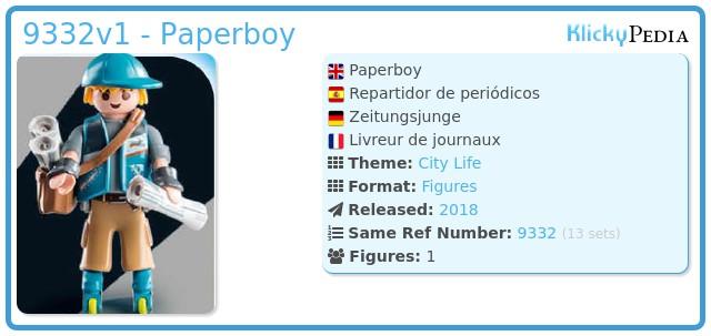 Playmobil 9332v1 - Paperboy
