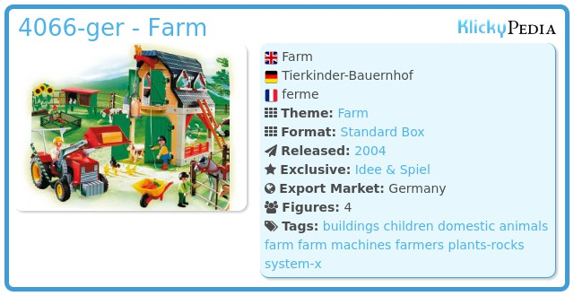 Playmobil 4066-ger - Farm