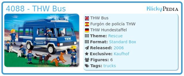 Playmobil 4088 - THW Bus
