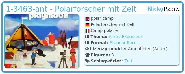Playmobil 1-3463-ant - Polarforscher mit Zelt