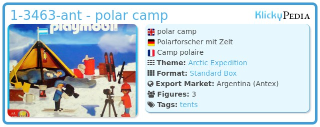 Playmobil 1-3463-ant - polar camp