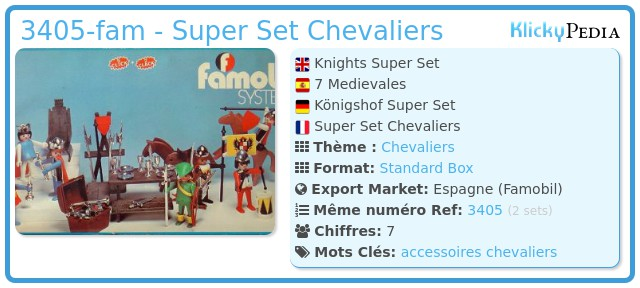 Playmobil 3405-fam - Super Set Chevaliers
