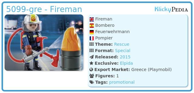 Playmobil 5099-gre - Fireman