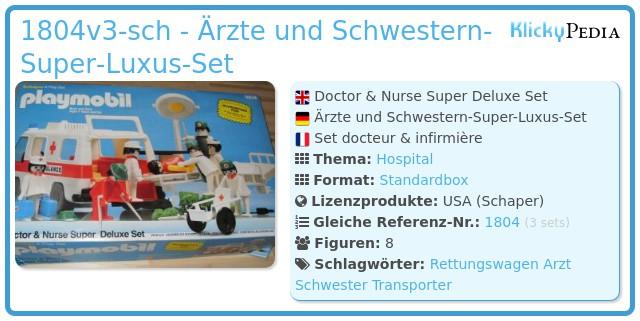 Playmobil 1804v2-sch - Arzt und Schwester Super Luxus Set