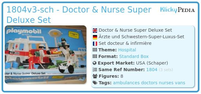 Playmobil 1804v2-sch - Doctor & Nurse Super Deluxe Set