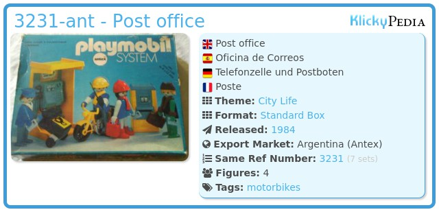 Playmobil 3231-ant - Post office