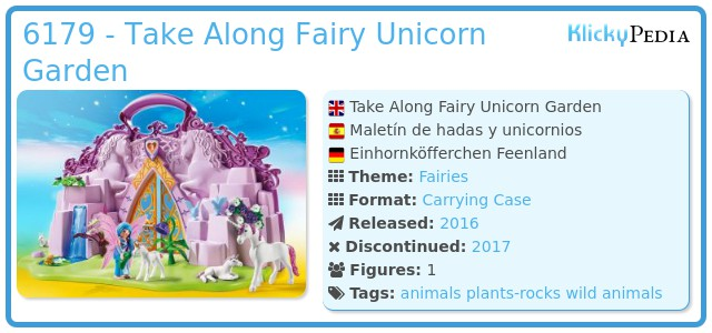 Playmobil 6179 - Take Along Fairy Unicorn Garden