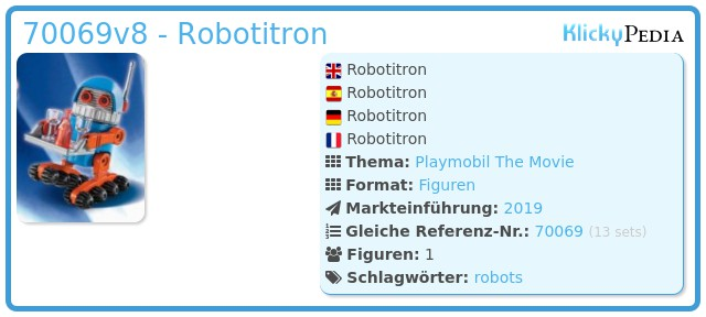 Playmobil 70069v8 - Robotitron