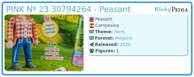 Playmobil PINK Nº 23 30794264 - Peasant
