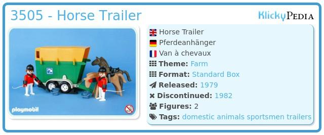 Playmobil 3505 - Horse Trailer