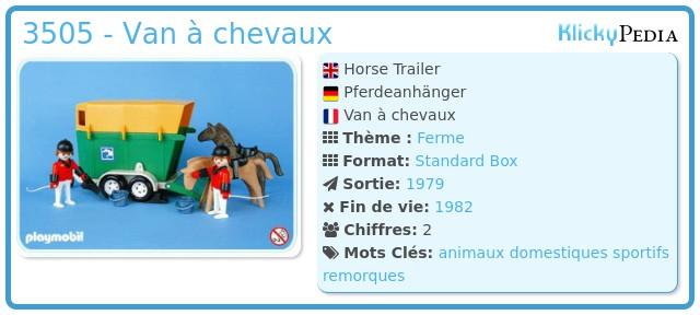 Playmobil 3505 - Van à chevaux