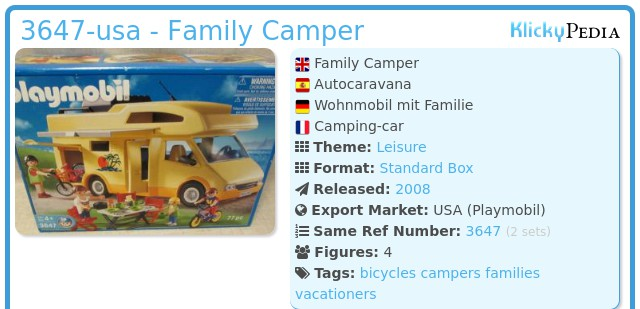 Playmobil 3647-usa - Family Camper