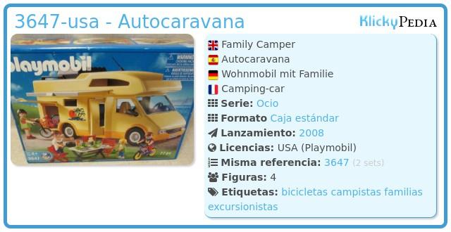Playmobil 3647-usa - Autocaravana