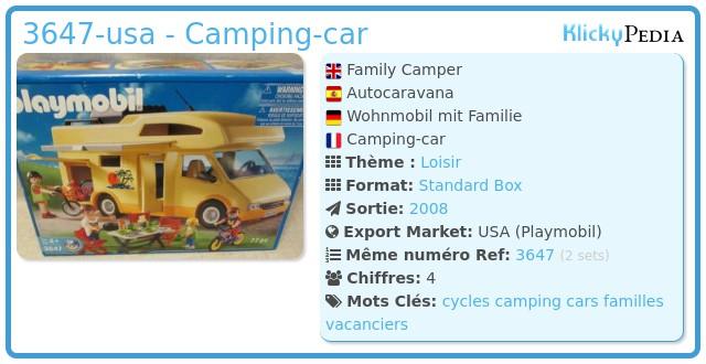 Playmobil 3647-usa - Camping-car