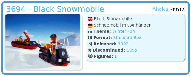 Playmobil 3694 - Black Snowmobile