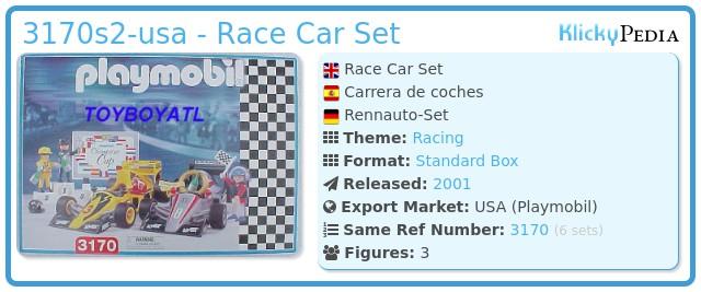 Playmobil 3170s2-usa - Race Car Set