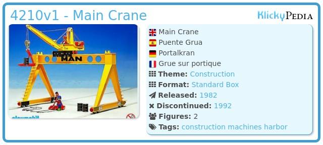 Playmobil 4210v1 - Main Crane