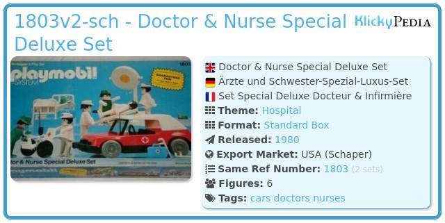Playmobil 1803-sch - Doctor & Nurse Special Deluxe Set
