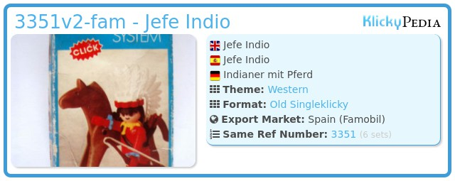 Playmobil 3351v2-fam - Jefe Indio