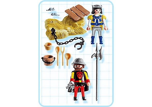 Playmobil 3328s2 - Captive Prisoner and Guard - Back