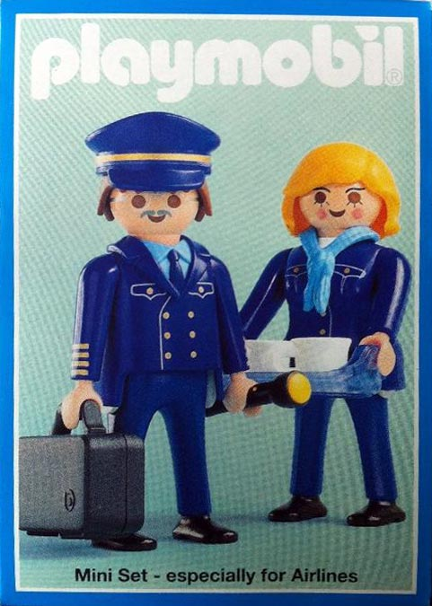 "Playmobil 3100 - Pilot & Stewardess ""Lufthansa"" - Box"