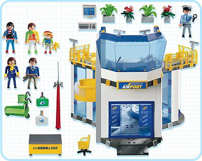 Playmobil 3353-usa - Airport Terminal - Back