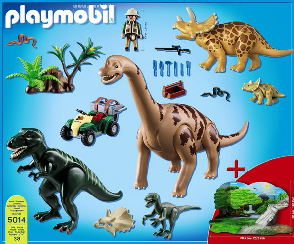 Playmobil 5014-ger - Big Dinosaurs World - Back