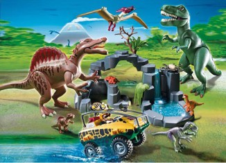 Playmobil - 5019-ger - Dino Expedition with Amphibious Vehicle
