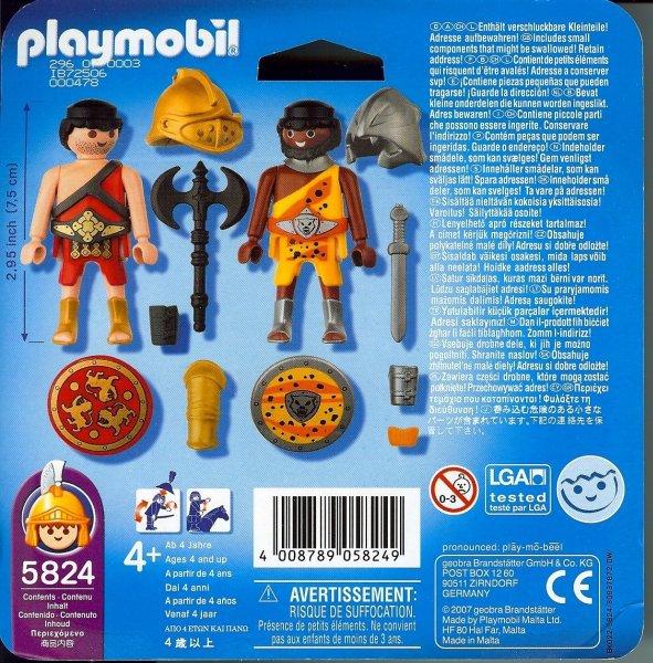 Playmobil 5824 - Duo Pack Gladiators - Back