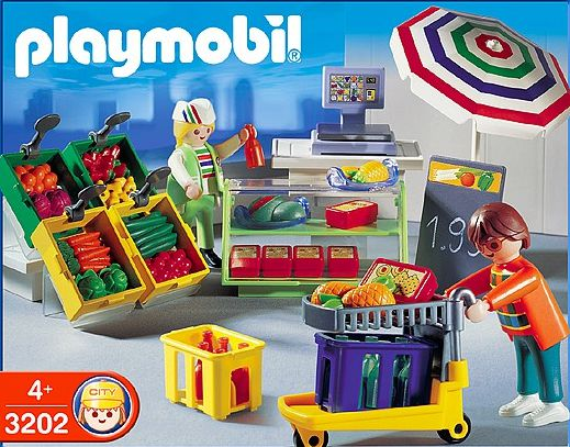 Playmobil 3202s2 - Deli & Produce Department - Box