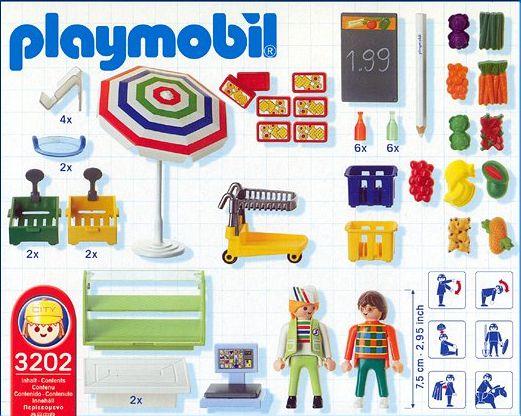 Playmobil 3202s2 - Deli & Produce Department - Back