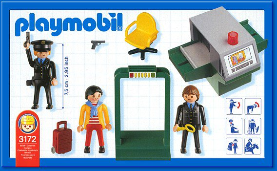 Playmobil 5717 - Security Check-in - Back
