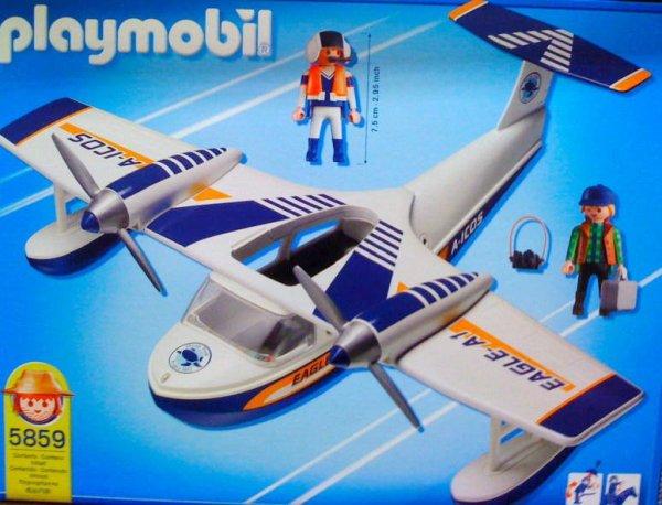 Playmobil 5859 - Water Plane - Back