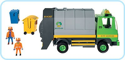 Playmobil 3121s2 - Recycling Truck - Back