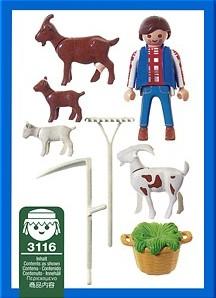 Playmobil 3116 - Goat Herder - Back