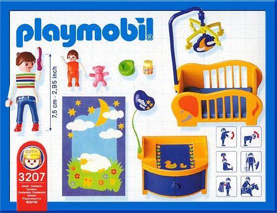 Playmobil 3207s2 - Baby Room - Back
