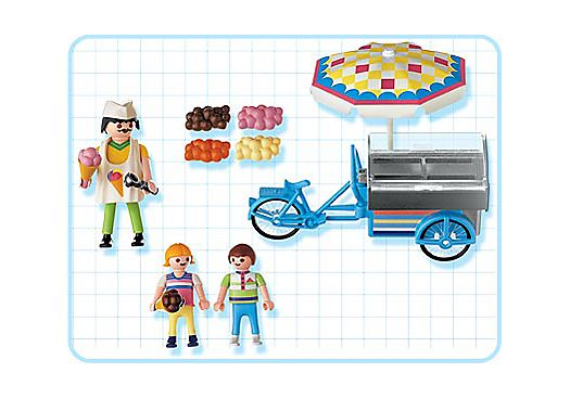 Playmobil 3244s2 - Ice Cream Cart - Back