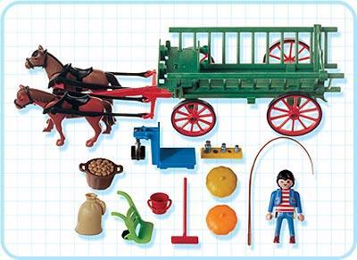 Playmobil 3246s2 - Horse Drawn Cart - Back