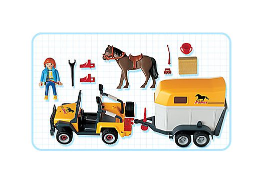 Playmobil 3249s2 - Jeep with trailer & horse - Back